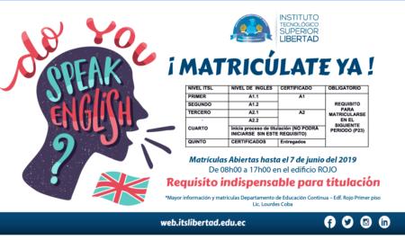 Matricúlate Ya ( Requisito indispensable para titulación )
