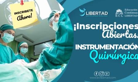 Inscripciones Abiertas Instrumentación Quirúrgica