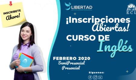 Inscripciones Abiertas Inglés